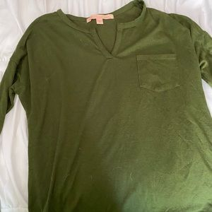 Rebellious one (S)Green long sleeve shirt w pocket
